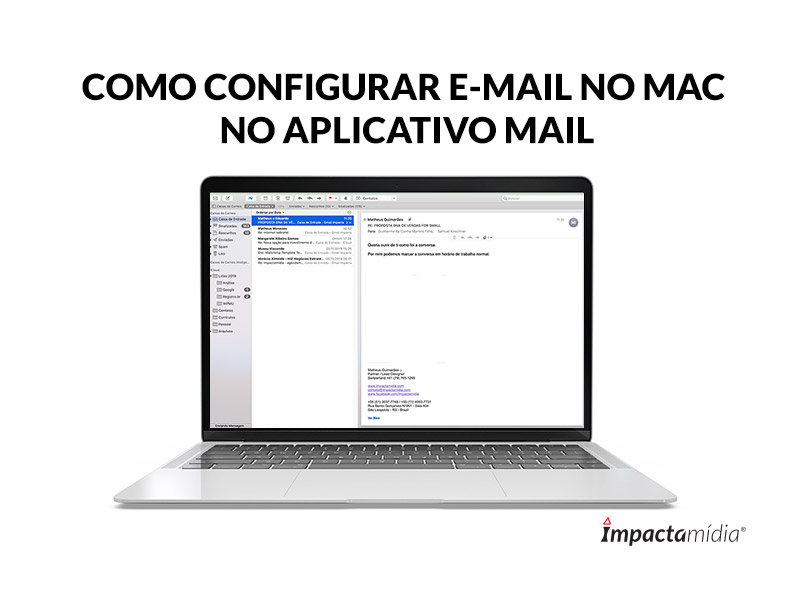 Como configurar e-mail no MAC no aplicativo Mail